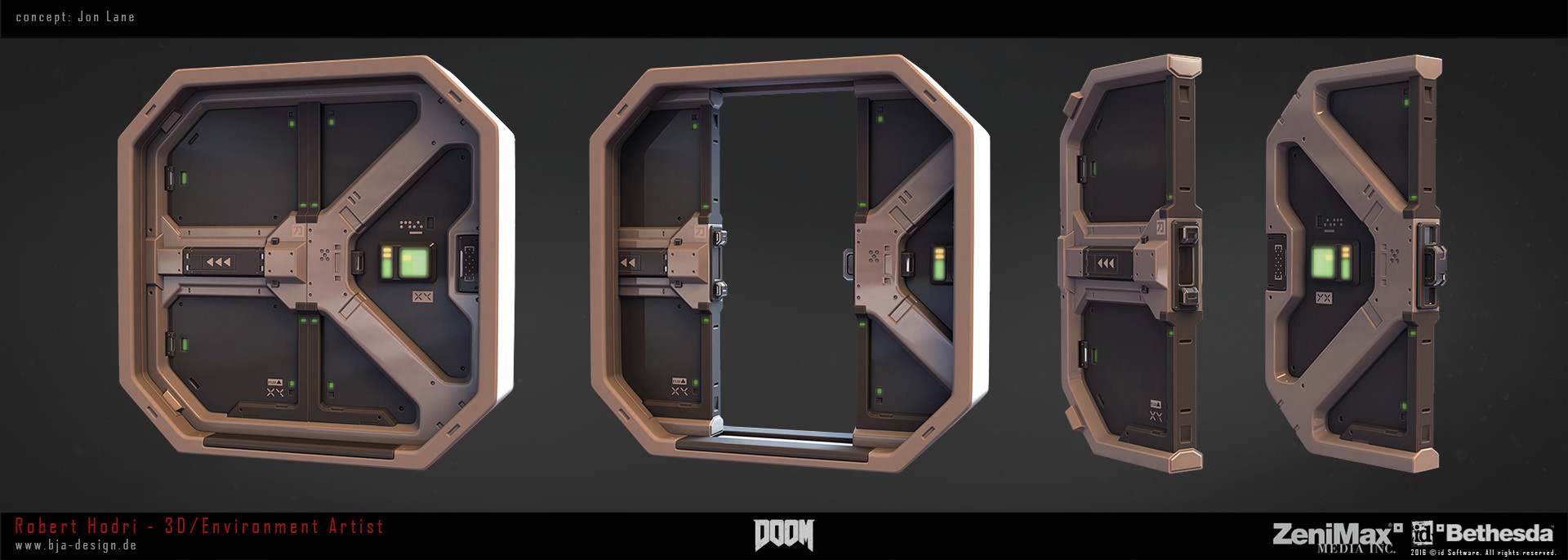 how to open doors in doom