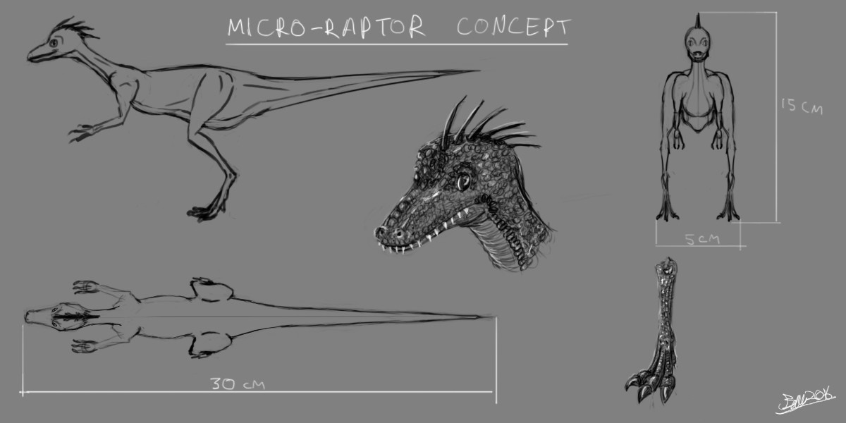 James ball micro raptor concept