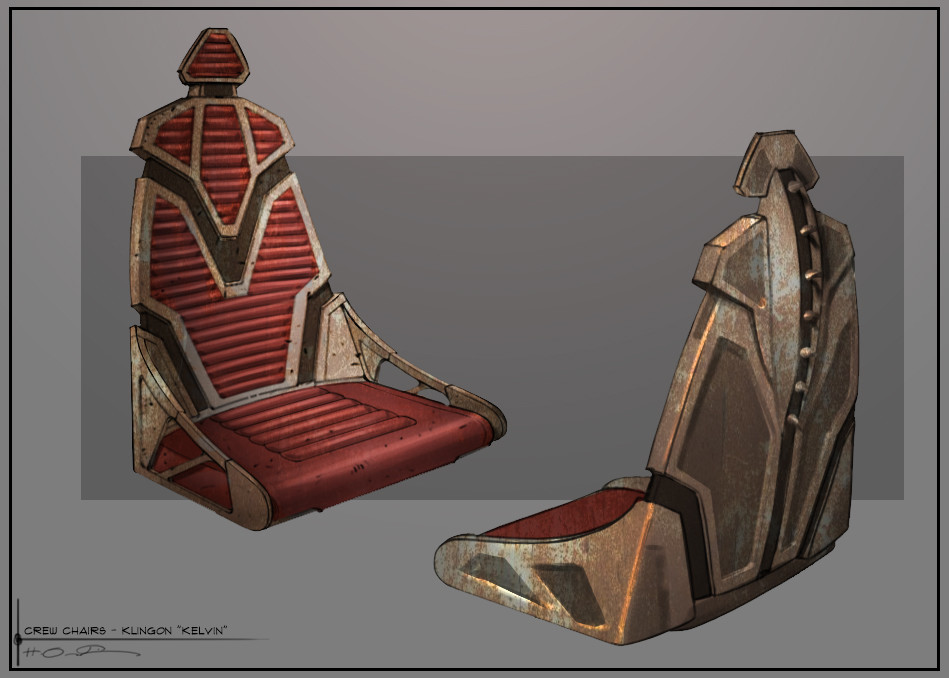 """This chair came straight from a WW2 airplane. Doesn't look comfortable, but any Klingon worth his salt would never complain about those """"petty"""" comfort matters."""