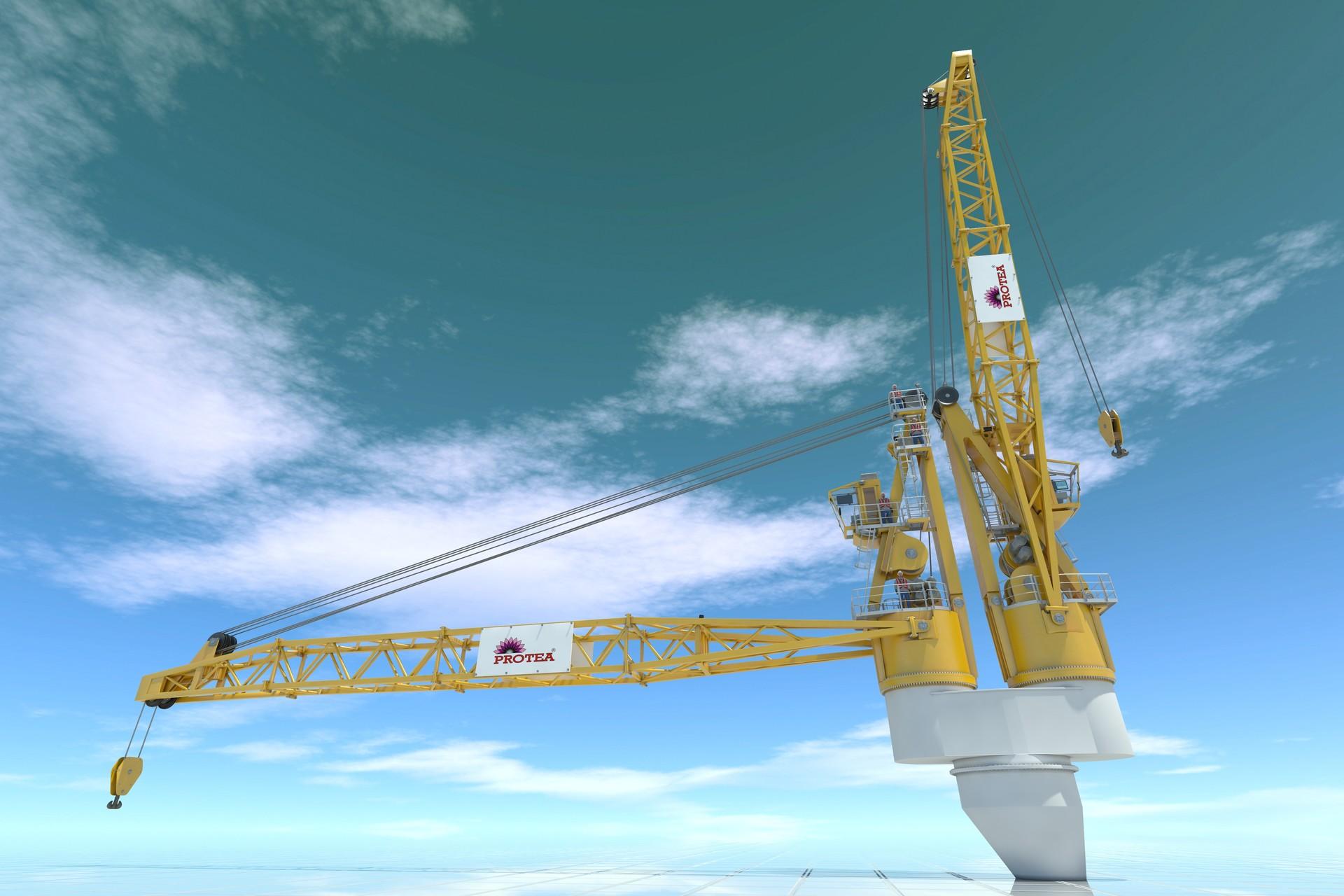 ArtStation - Lattice boom twin crane, Marcin Kobus