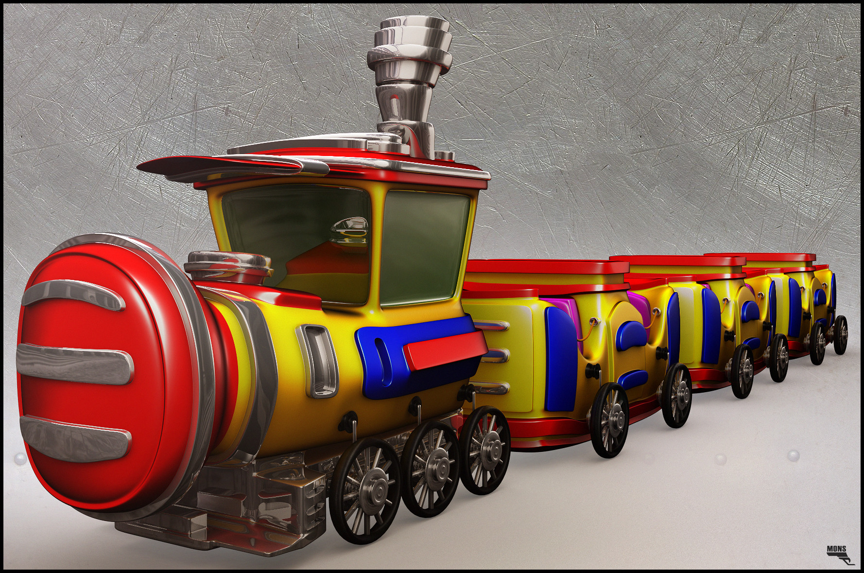 Marc mons cartoon train