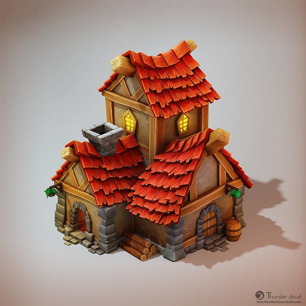 3D Game Art Outsourcing - Pirate House