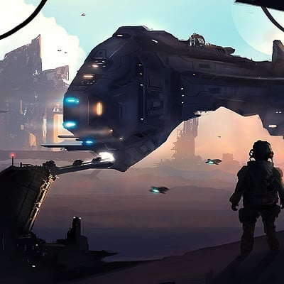 Dusty crosley scifi ship dock patreon