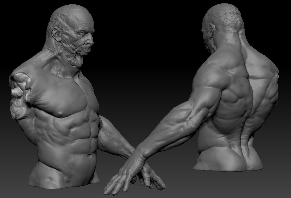 Just the body; without his jaw and arm he's a little beat up