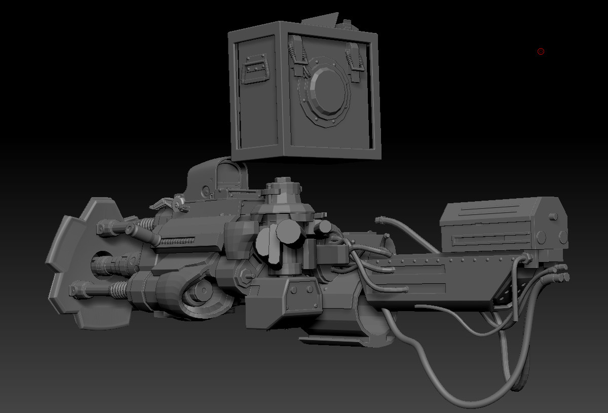 Boom! Wishing I had some models to pull from, then remembered I had some assets I had created for the ZB4r7 beta I participated in years ago (a turret gun and back hoe scraper thing)