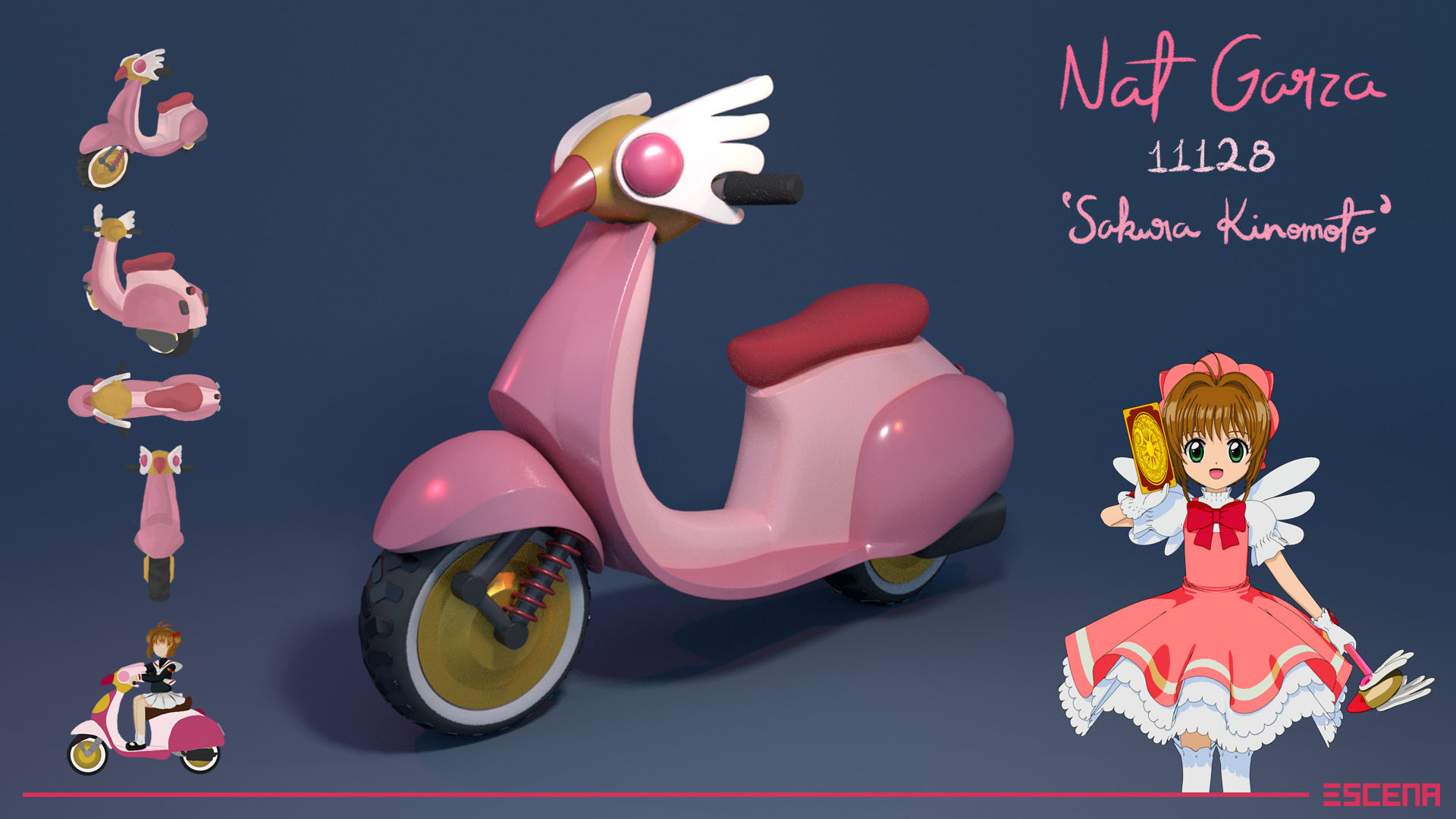 kart naf ArtStation   Sakura Kinomoto Mario Kart Scooter, Nat Garza kart naf
