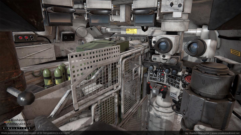 Leopard 1A5 Interior - game model - shot from Quixel viewport