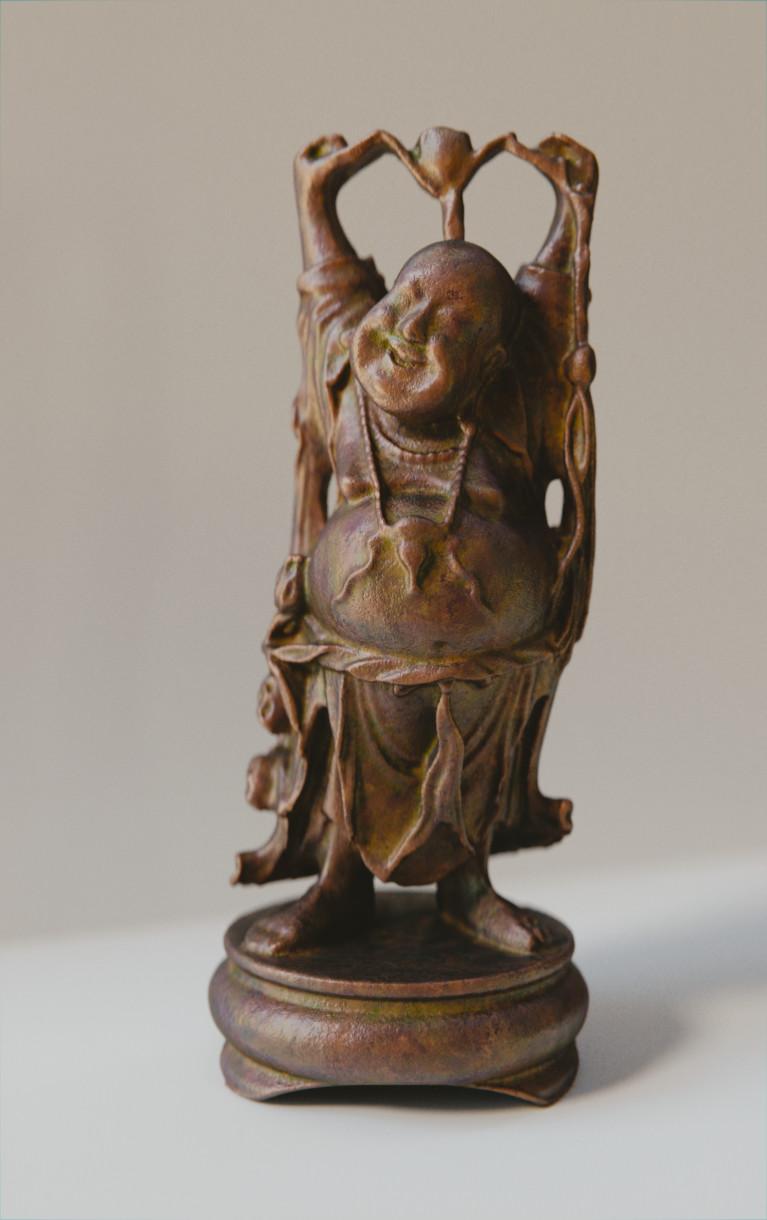 Anthony pilon happy buddha bronze