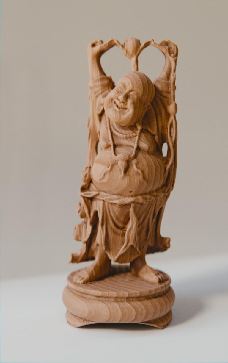 Anthony pilon happy buddha wood