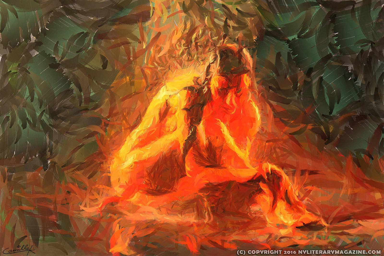 Flame Oil Paintings