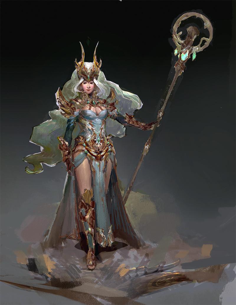 ArtStation - Guild Wars 2- Crystal Savant outfit, Carlyn Lim