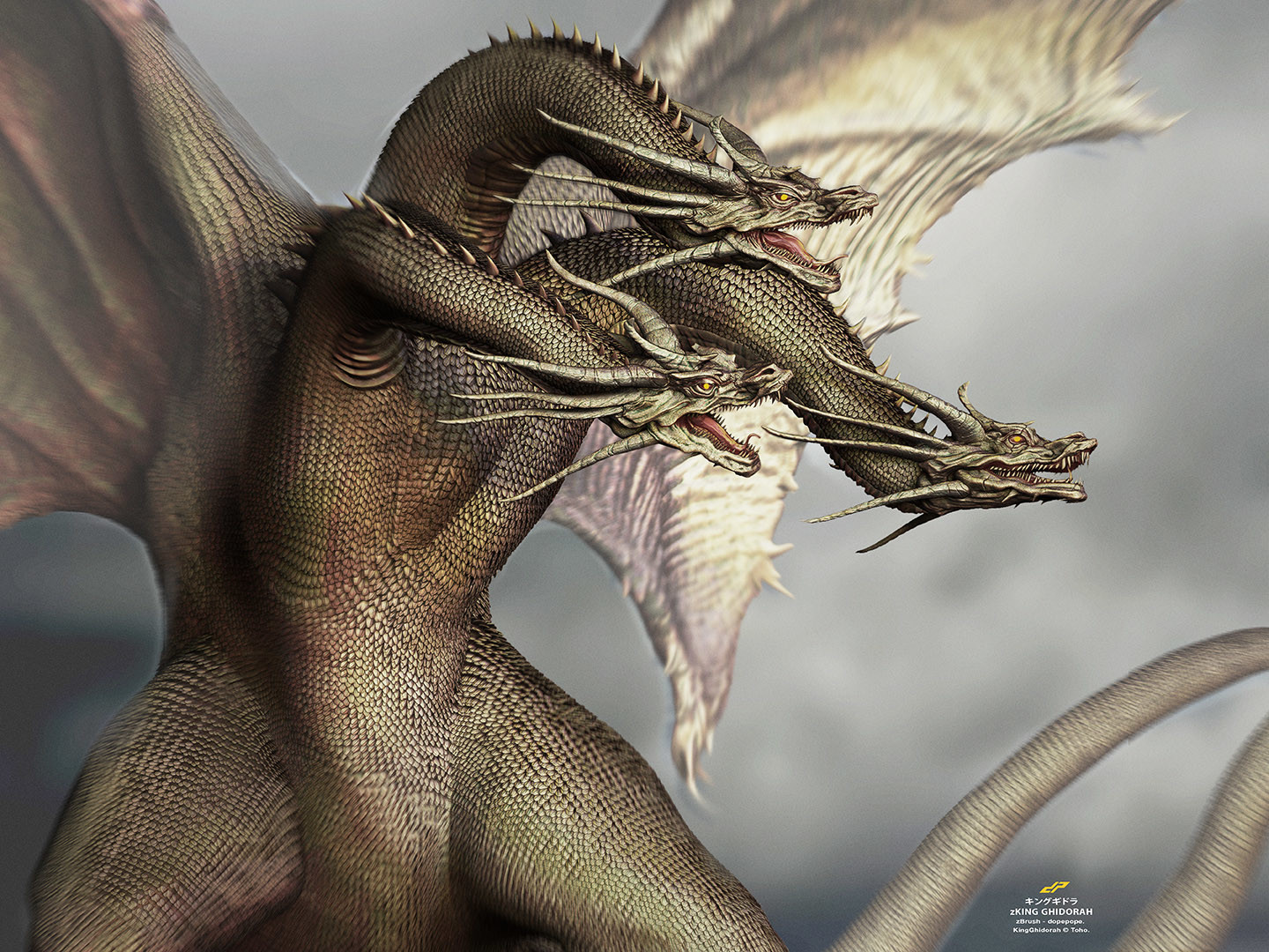 Dope pope zghidorah by dopepope