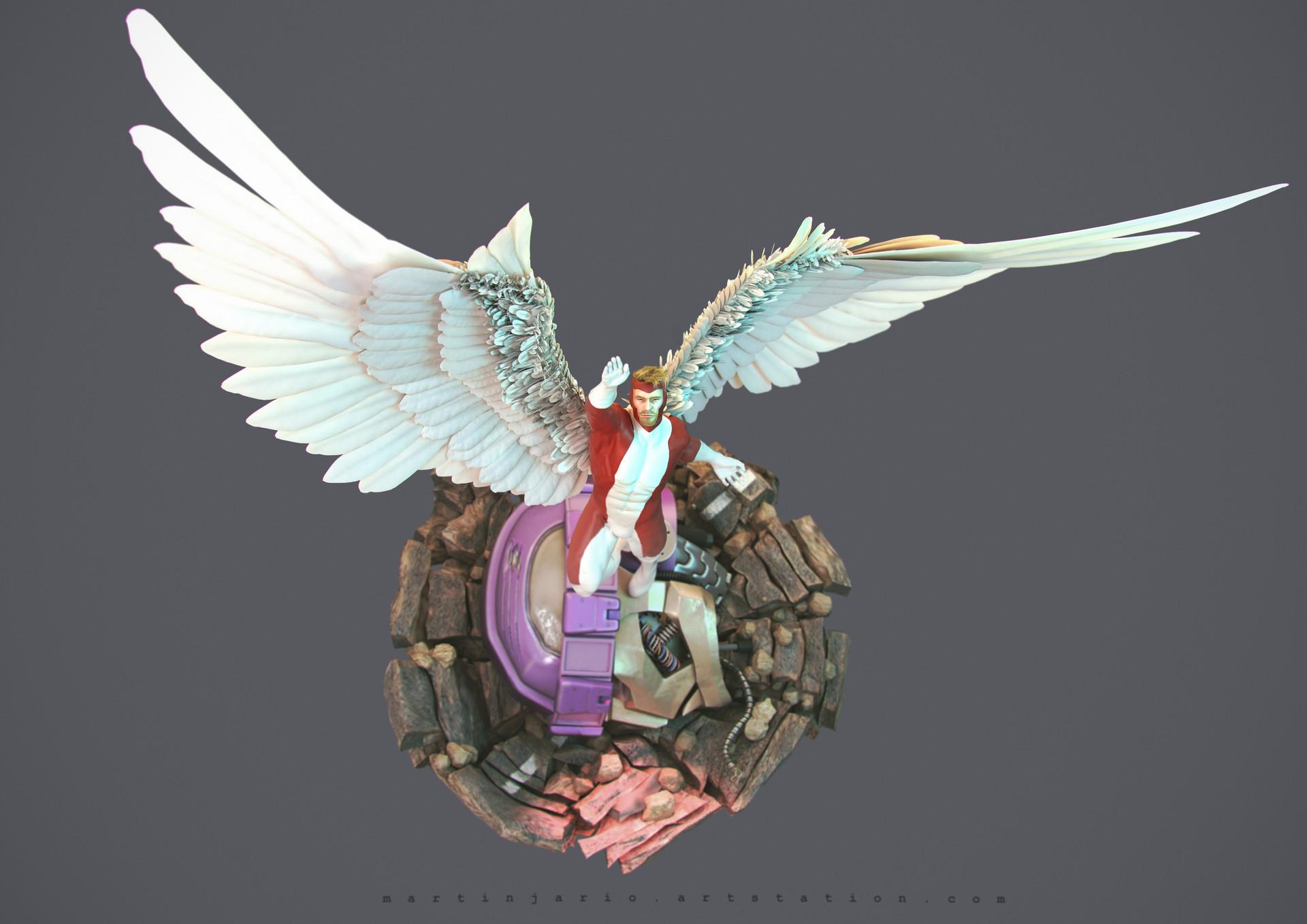 Martin jario martinjario angel xmen zbrush top 2