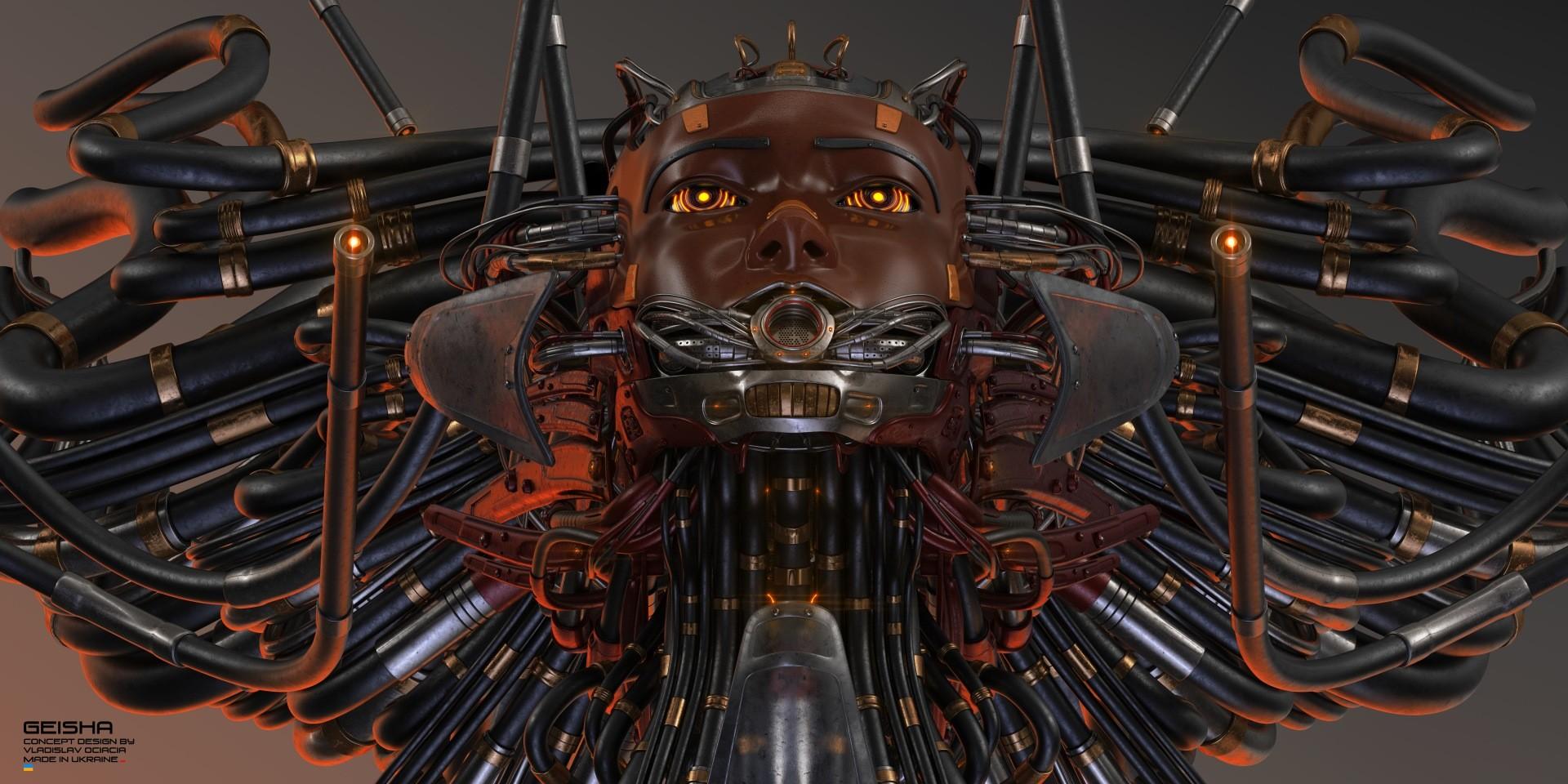 Vladislav ociacia dirty geisha robot head 4