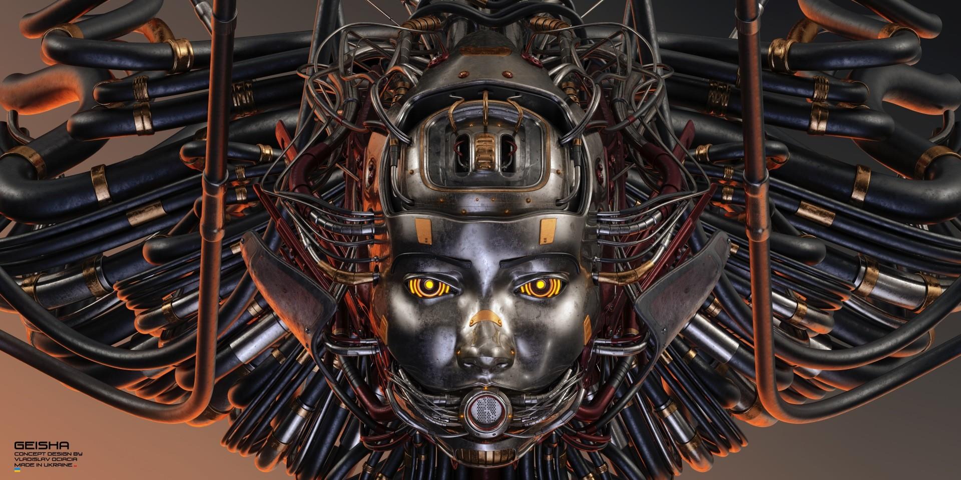Vladislav ociacia dirty geisha robot head 7