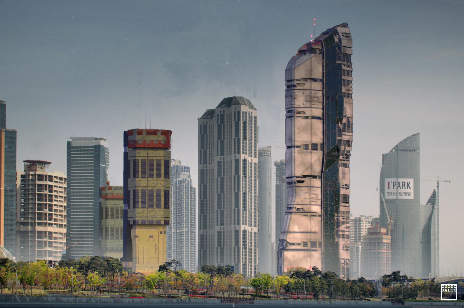 SciFi Buildings design