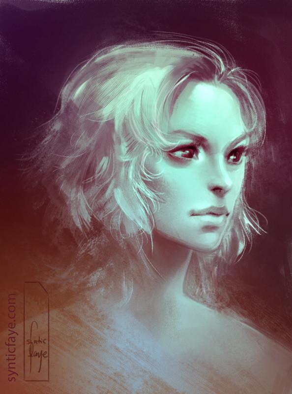 Trudy wenzel portrait sketch