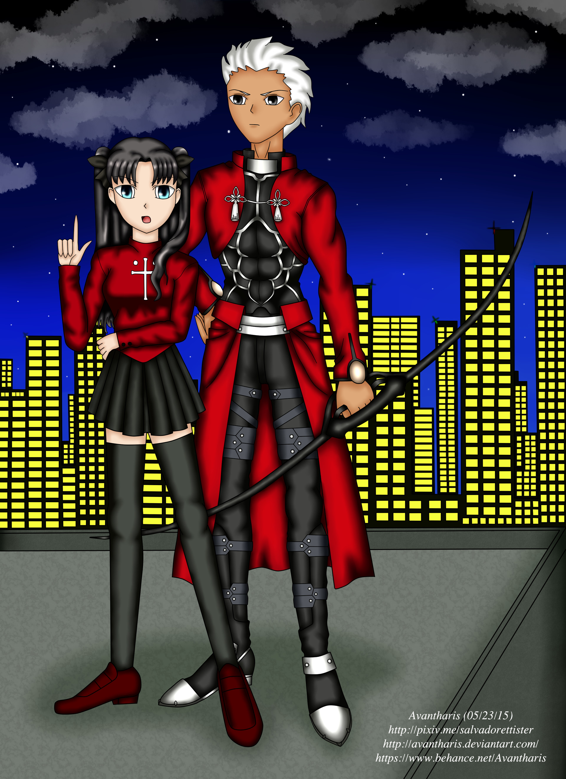Rin and Archer from Fate/Stay Night