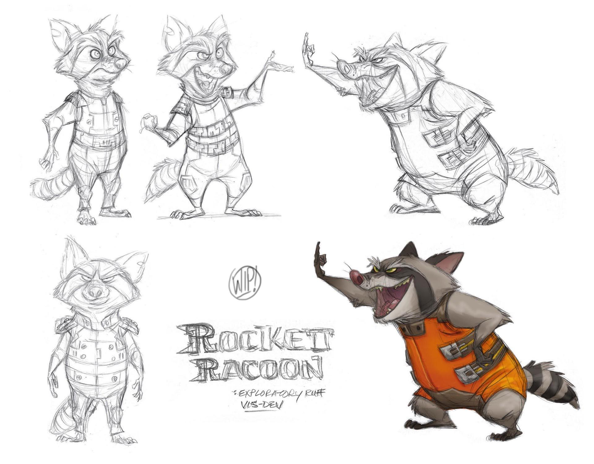 Art Of Animal Character Design Pdf : Artstation rocket groot jeff merghart