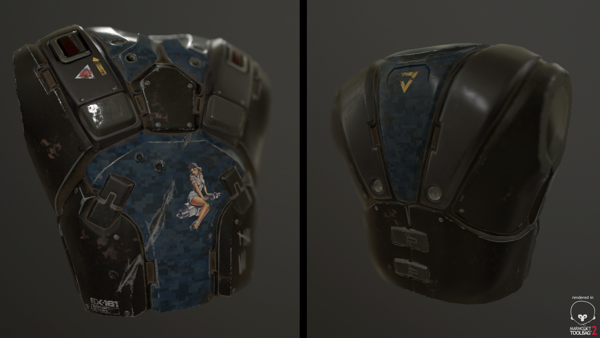 Marmoset ToolBag - Front and Back