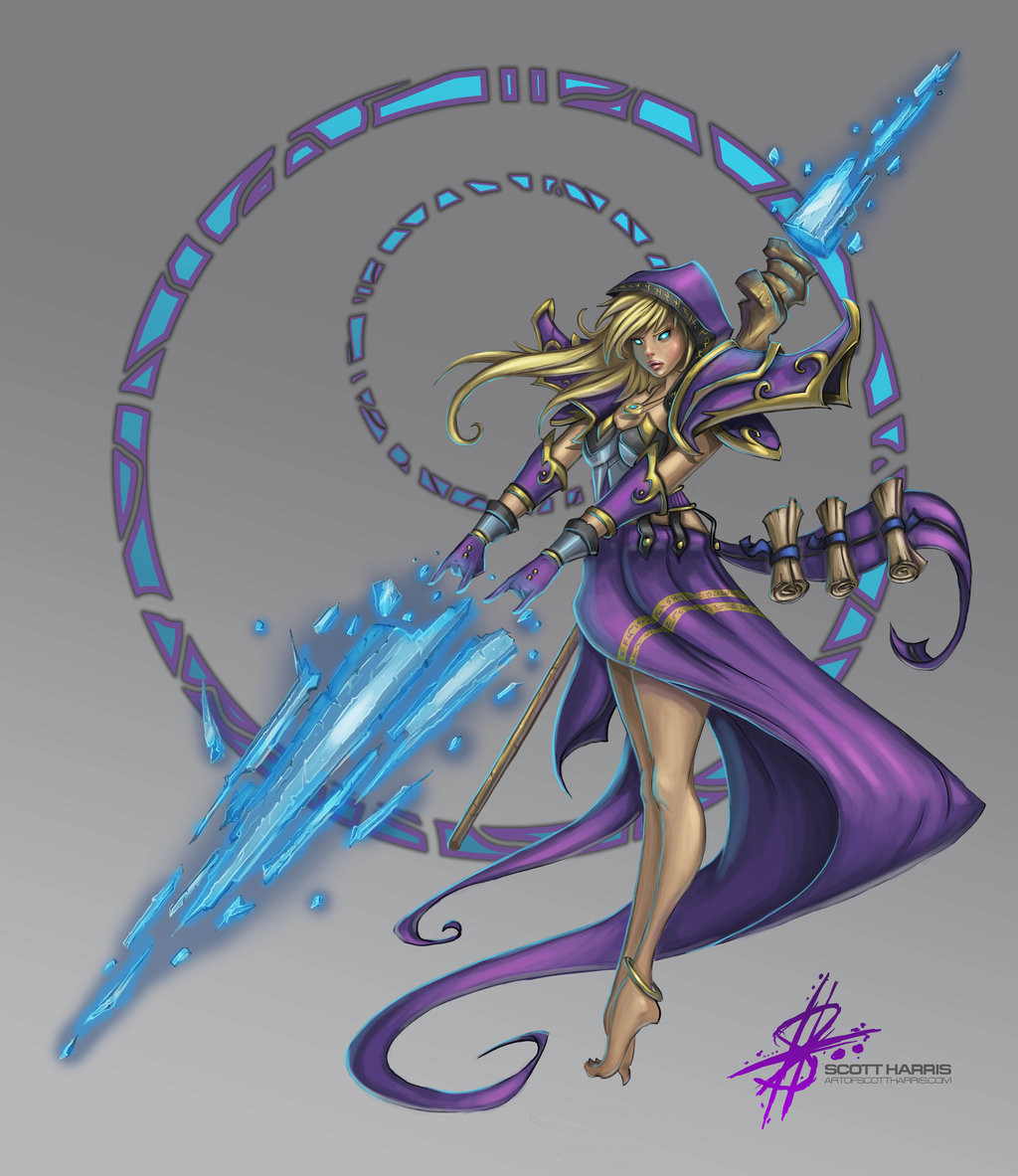 Scott harris dark jaina proudmoore by art of scott d90tx0d