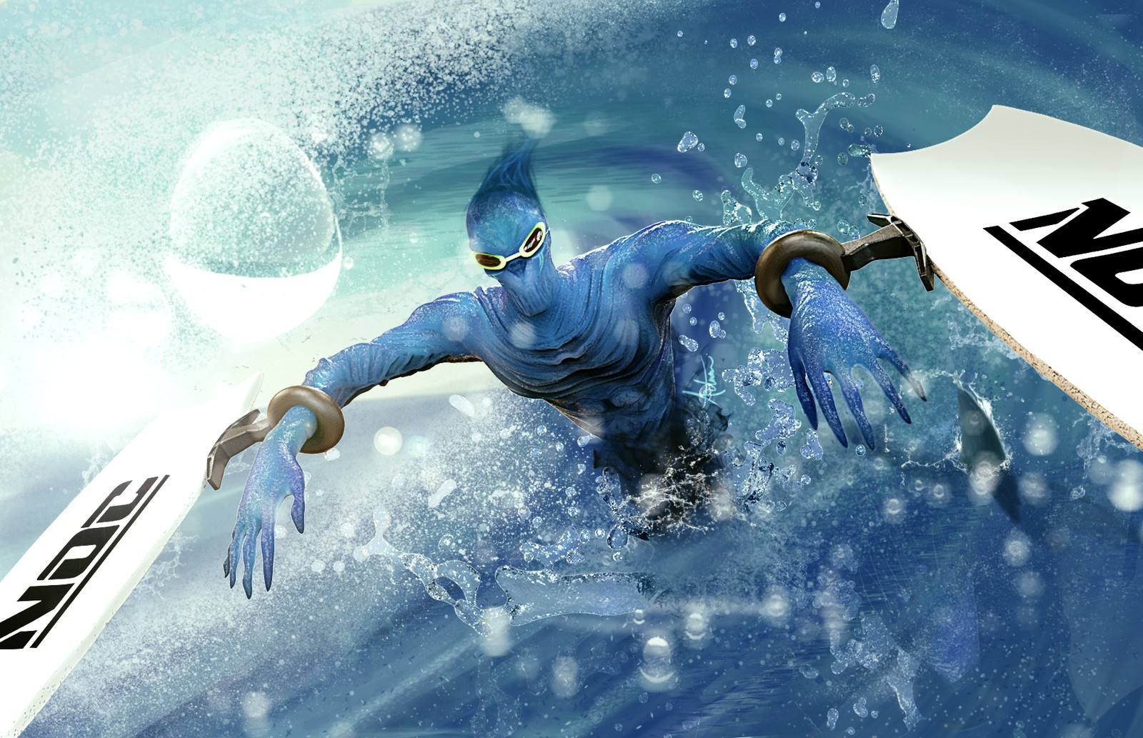 Surfer Nocturne League of Legends Skin idea