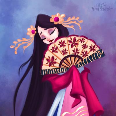 Niniel illustrator geisha cdchallenge niniel illustrator
