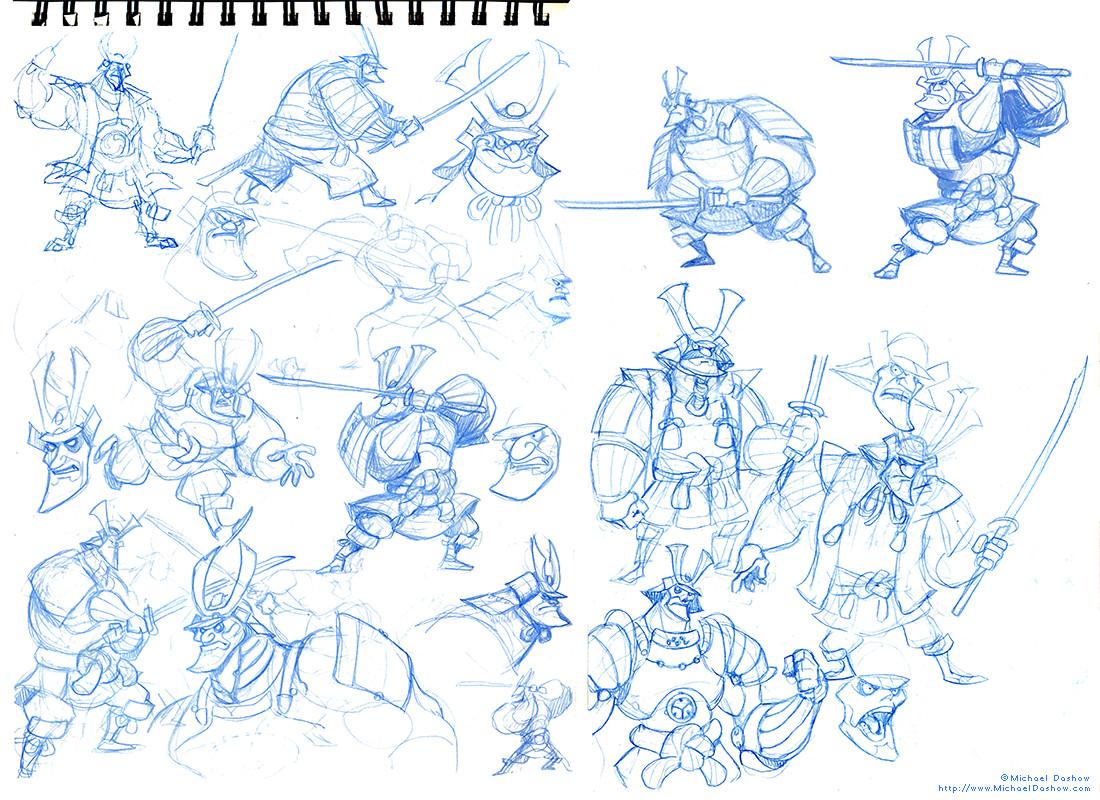 Michael dashow samurai 01 sketches
