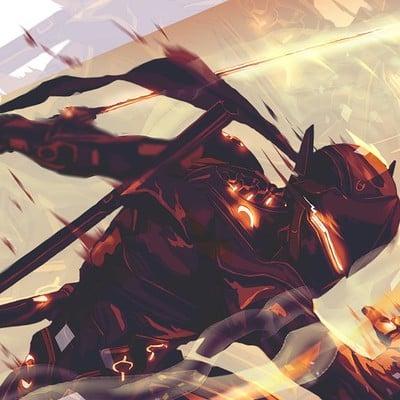 Anato finnstark black steel genji overwatch by anatofinnstark daaaoyz