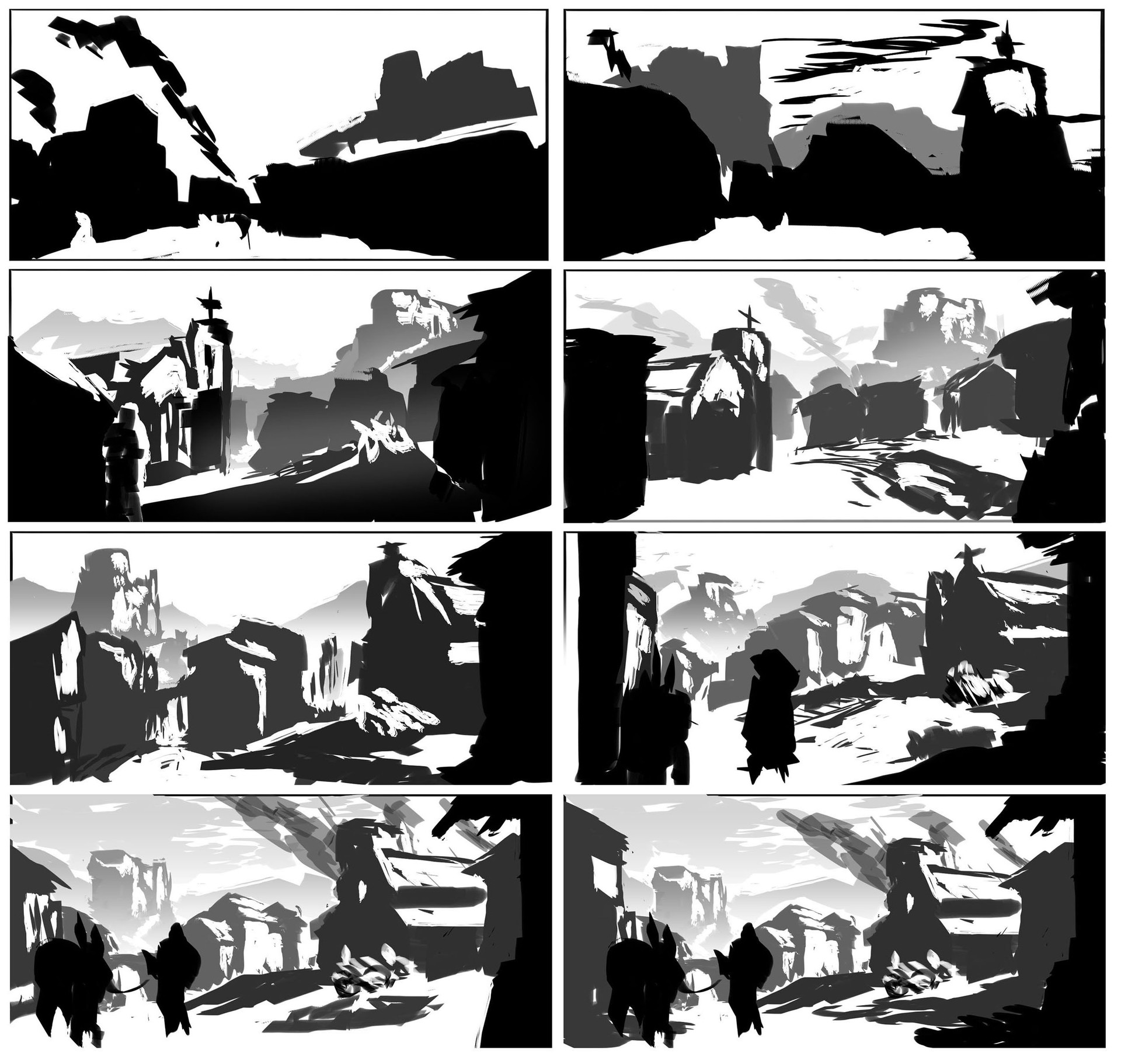 WIP 01: Composition Sketches