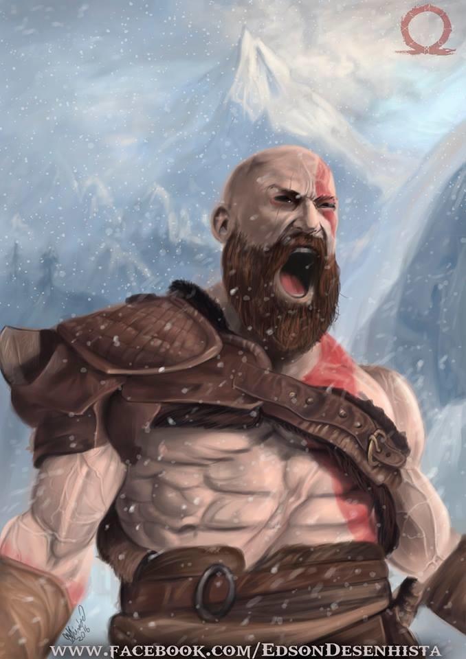 Artstation Kratos God Of War 4 Edson Desenhista