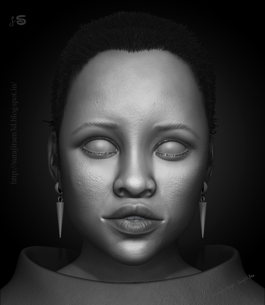 Realistic 3d portrait digital sculpting  of my favorite Oscar winning Actress....:)