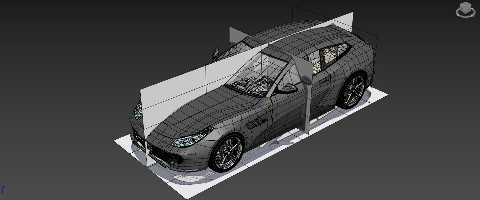 Ferrari GTC4Lusso - Modeling with blueprints