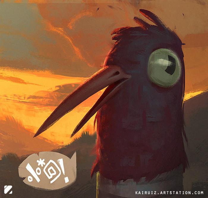 Carlos ruiz art bird
