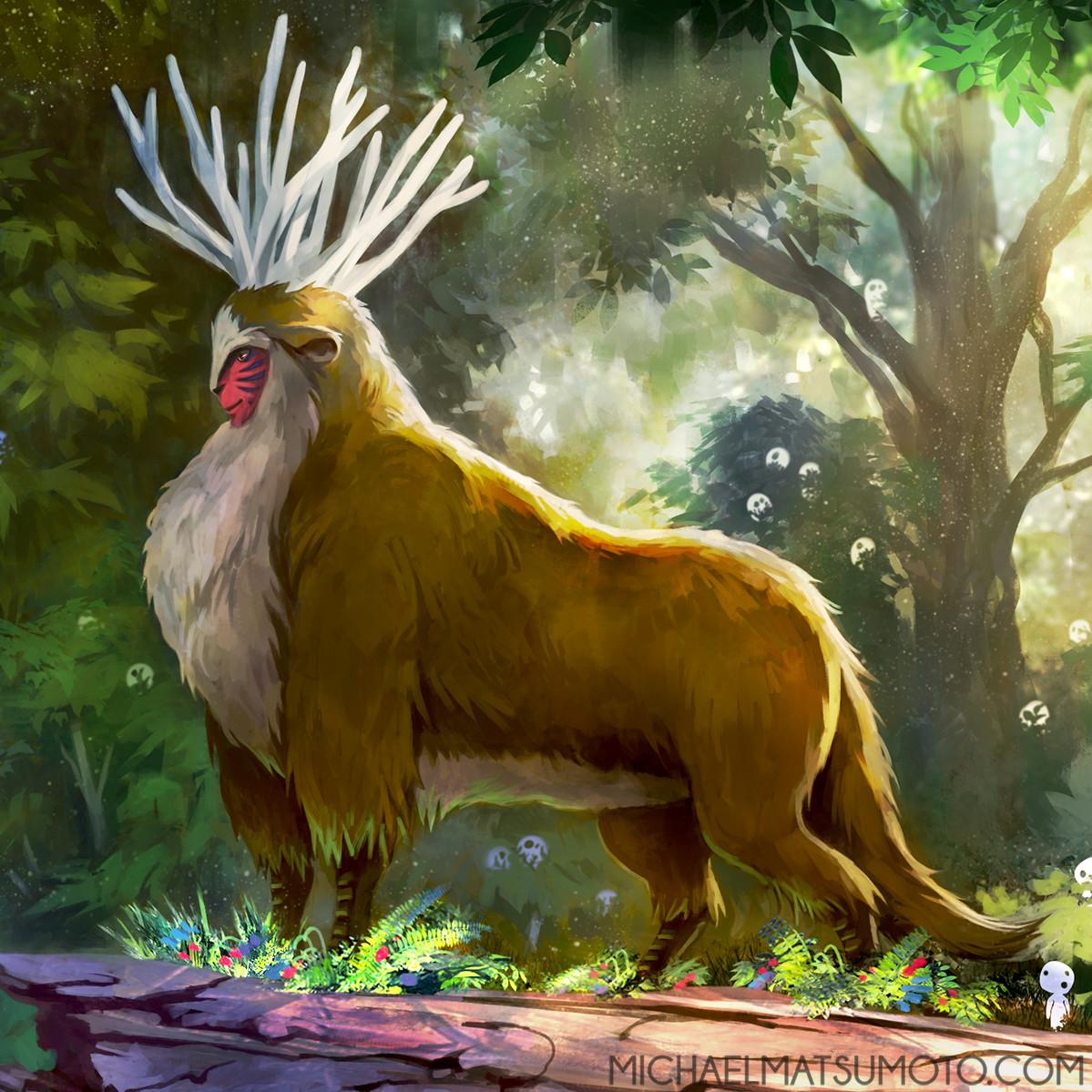 Michael matsumoto forest spirit web detail 02