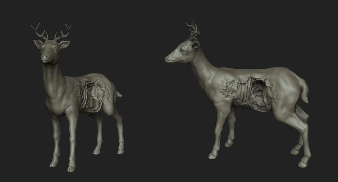 Andrey kultishev 08 kultishev deer sculpt