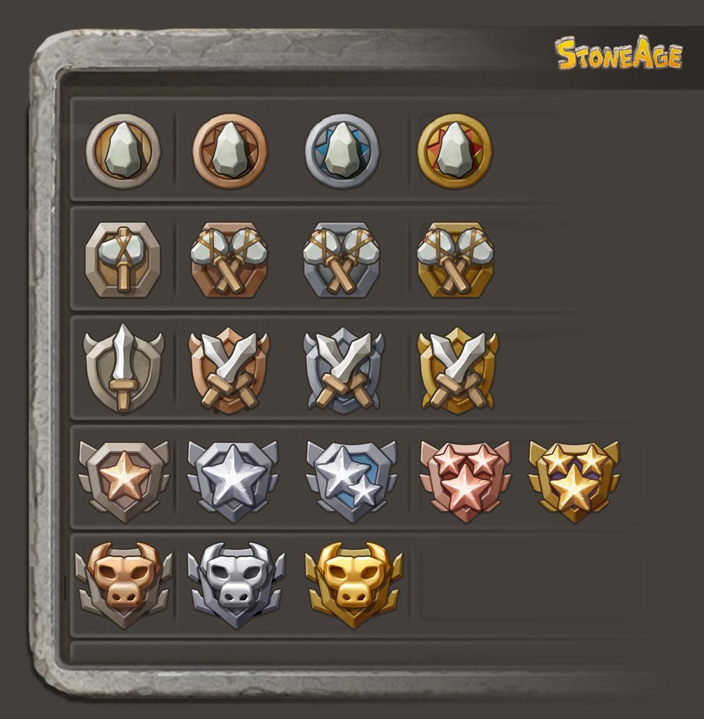 Minas Portfolios Stone Age Symbol Items