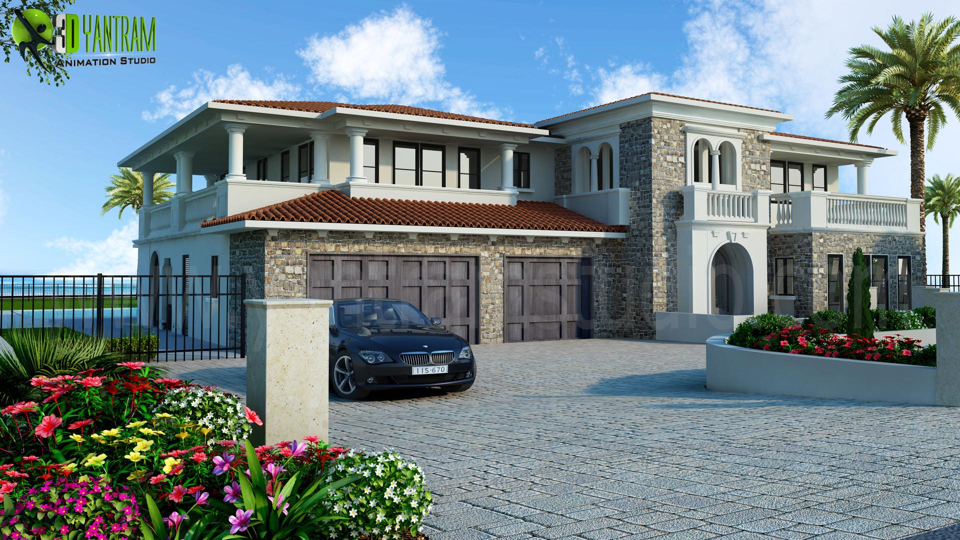Modern luxurious 3d home exterior design new zealand