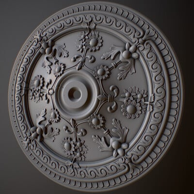 Ash thundercliffe ceiling rose 01 3dmotive