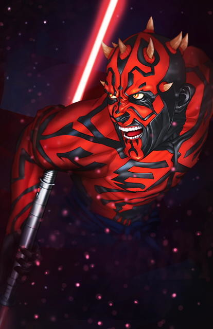 Finished painting of Dark Maul