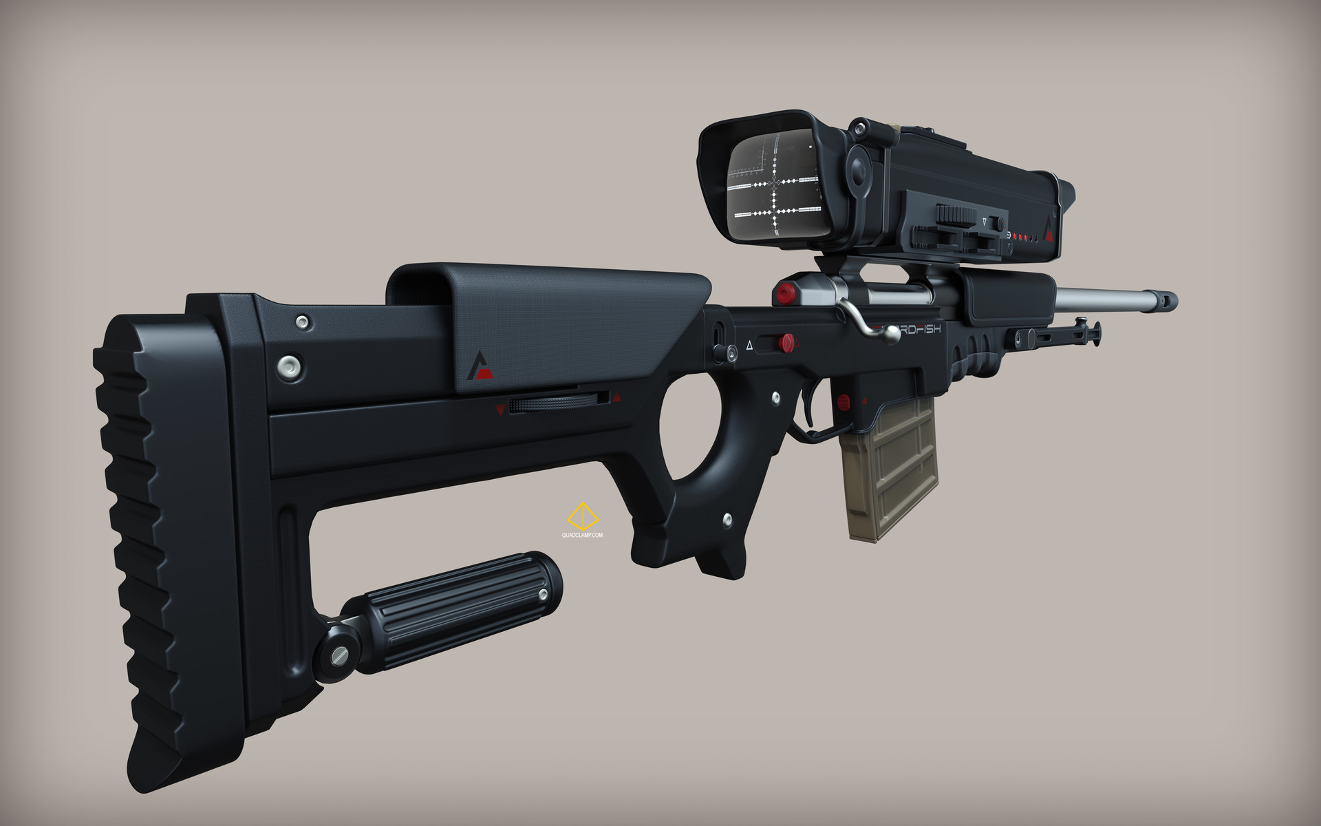 Jordan moss swordfish gun 3quarterrear
