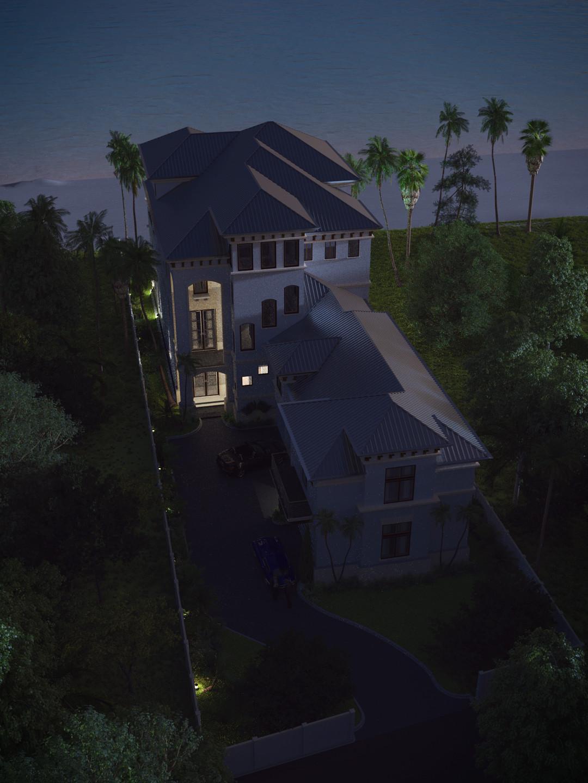 SketchUp + Thea Render  Seagrove Beach House: Ariel Vertical 4-3 Night A Lumina x3 Bob 1080 × 1440 Presto MC Bucket