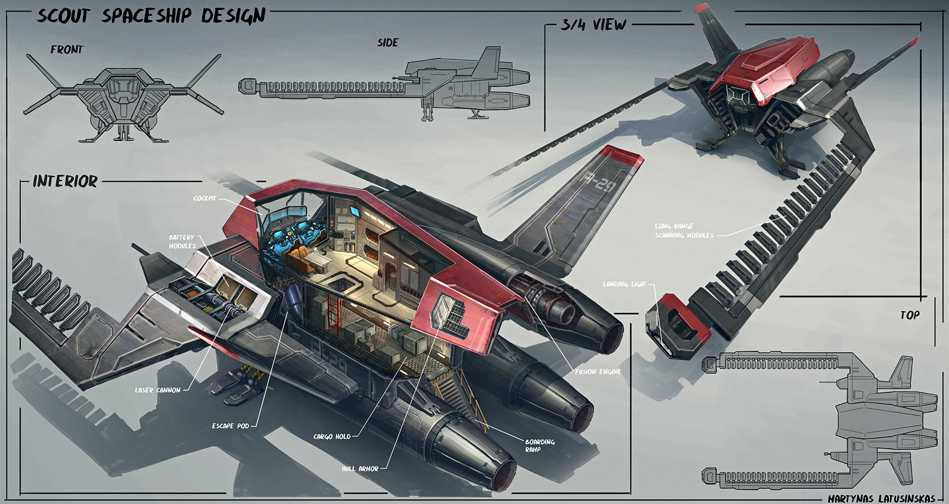 Martynas latusinskas scout spaceship design martynas latusinskas