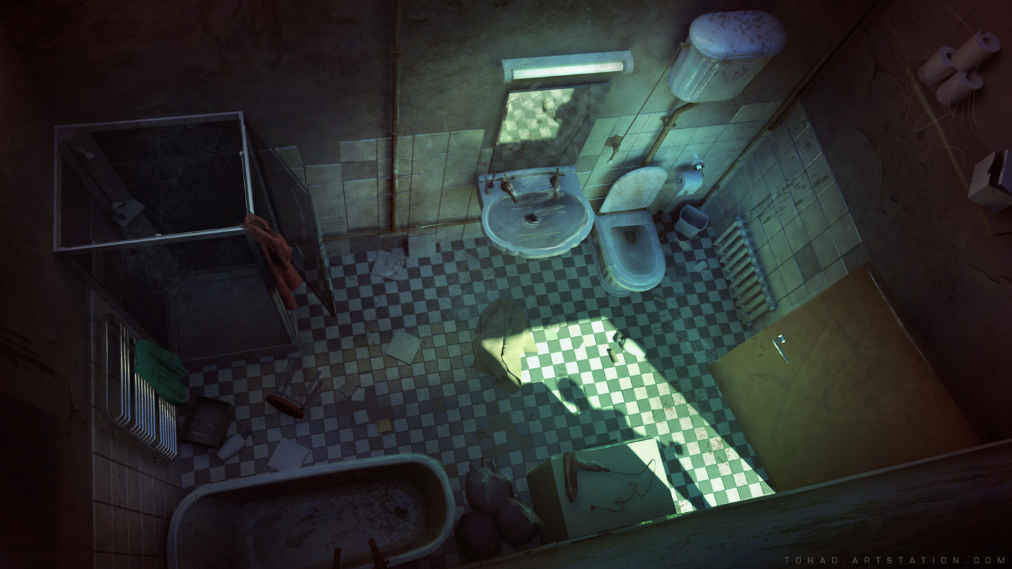 Dark Days : Bathroom
