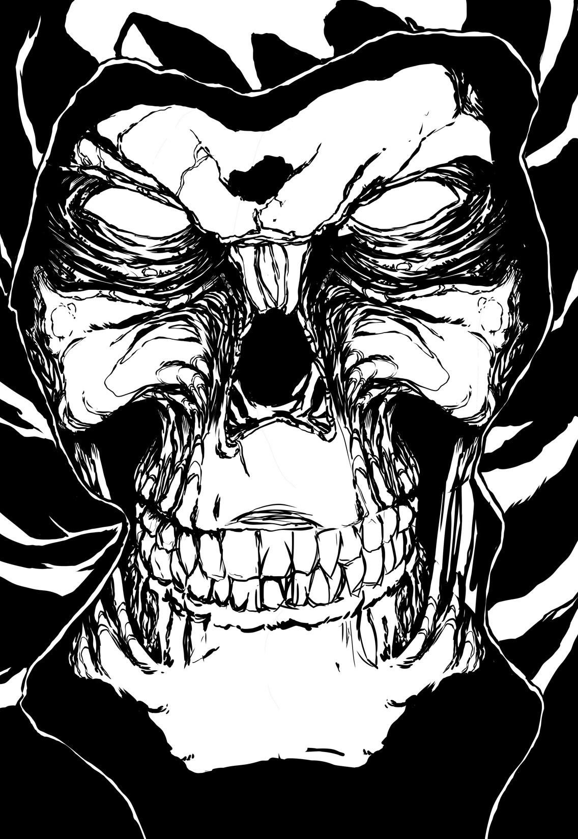Tony washington skeletor for paintstorm