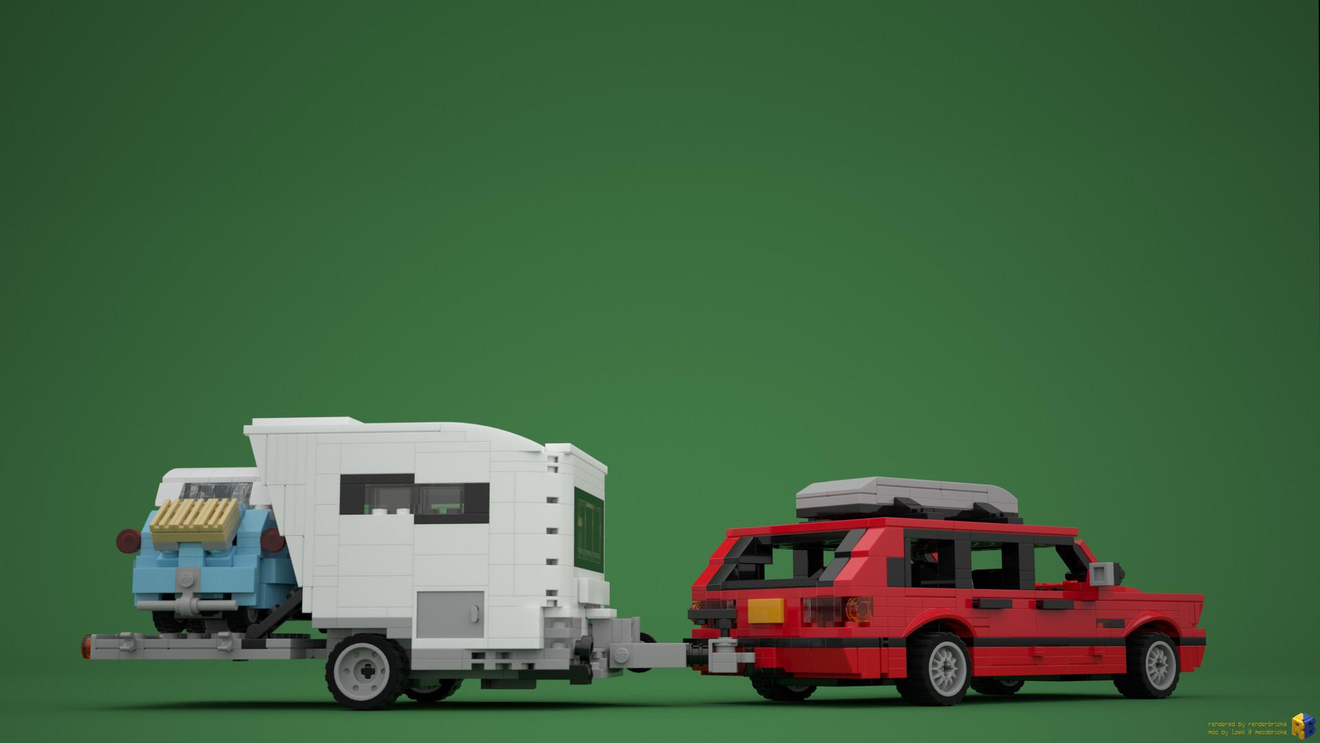 Artstation Lego Bmw 3 Series E30 Touring With Caravan Isetta