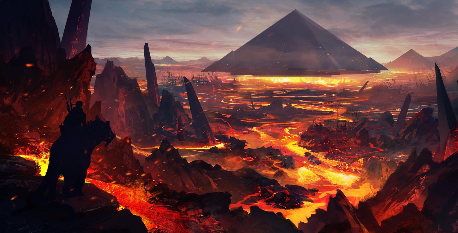 Volcano pyramid