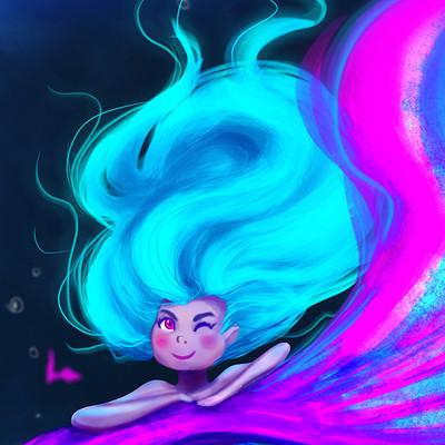 Taha yeasin character design challange marmaid