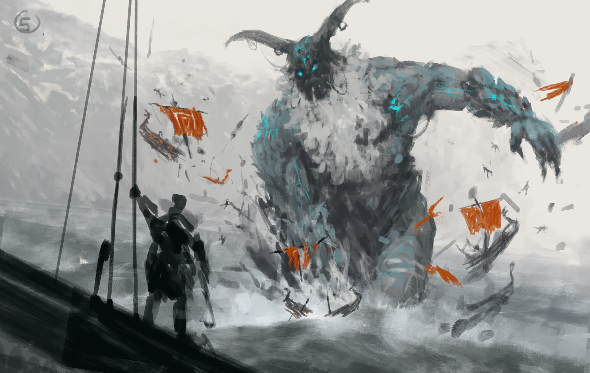 Jakub rozalski ancients 03workprocess5
