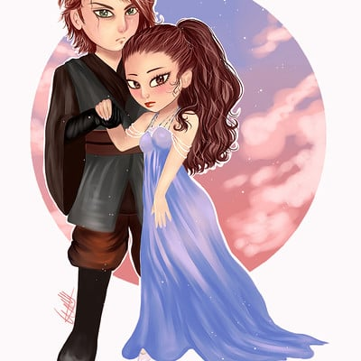 Andrea villa sanchez anakin and padme by andreakiissu d9os5wk